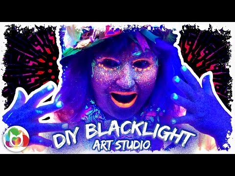 Make your own  blacklight painting party | Home studio