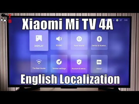 Xiaomi Mi TV 4A - How to Change To English (Tutorial)