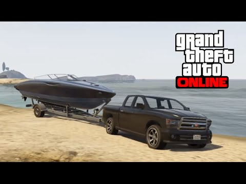 GTA 5 Online - How to Find and Launch a Boat Trailer