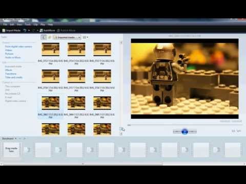 How To Make A Lego Stop Motion Using Windows Movie Maker