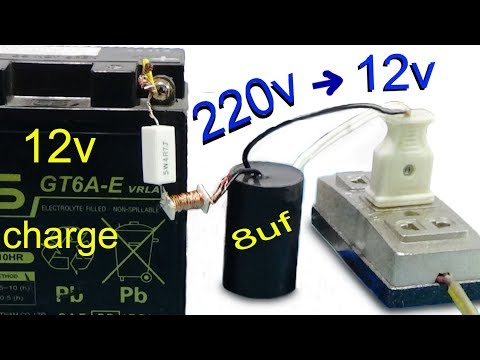 How to charge the battery without transformer, charge 12v battery with 220v ac power and 120v