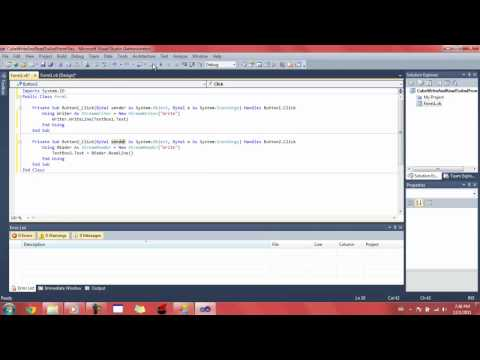 Visual Basic How to Read/Write to and from files
