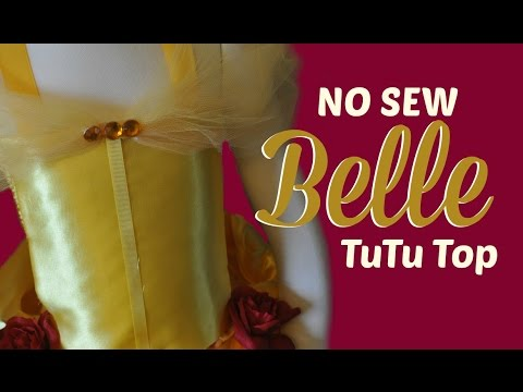 How to Make a No Sew Belle Tutu Top