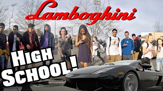 Driving My Lamborghini To High School At 17! Funny Supercar Reactions!!