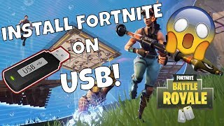 installing fortnite to a usb or portable hard drive 2018 - copy fortnite to another pc
