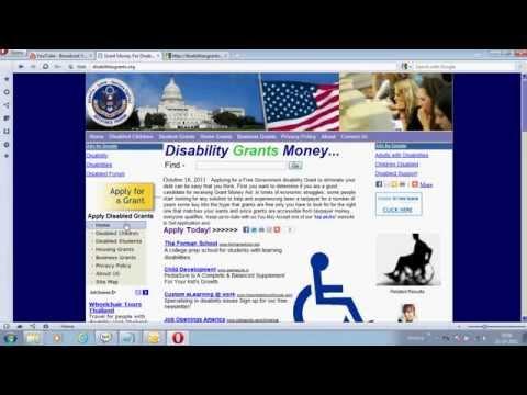 disabilities grants org