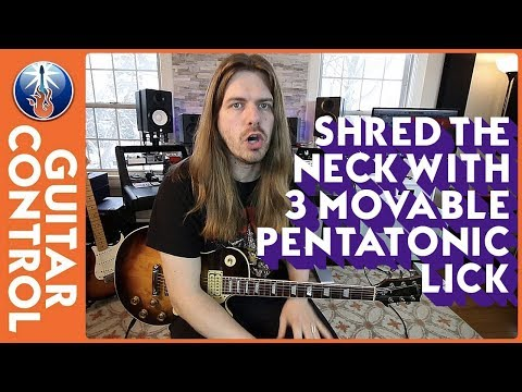 Shred the Neck With 3 Movable Pentatonic Licks