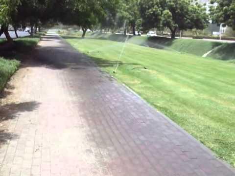 The machine gun water sprinkler - Must watch