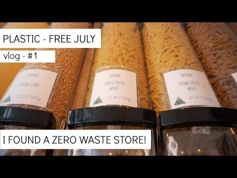 I found a zero waste shop! | Plastic Free July Vlog - Day 1| Kate Arnell