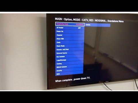 How to unlock hotel Samsung TV menu.