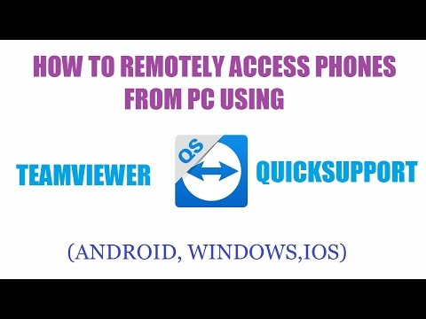 How to remotely access phone from a PC using Teamviewer