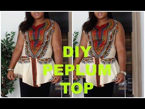 DIY Dashiki peplum top