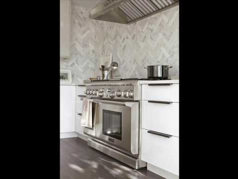 White Herringbone Porcelain Mosaic Tile