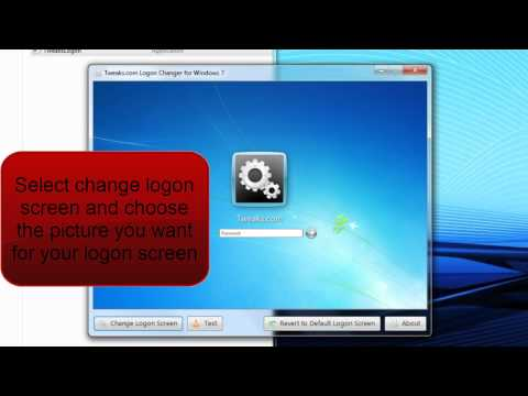 How To Change Windows 7 Logon Screen EASY 2 MIN!!