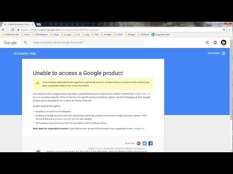 How to get back Suspended YouTube channel | Unable to access a Google product | Khadija productions