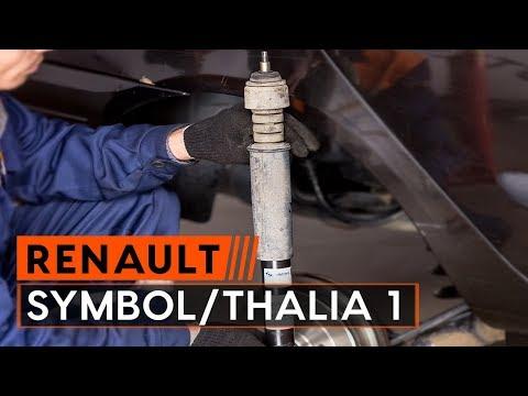 How to replace shock absorber onRENAULT SYMBOL/THALIA 1[TUTORIAL AUTODOC]
