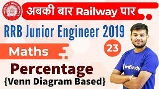 12:30 PM - RRB JE 2019 | Maths by Sahil Sir | Percentage {Venn Diagram Based}