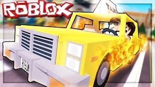 Roblox Adventures - DRIVING A CRAZY TAXI IN ROBLOX! (Roblox Taxi Simulator)