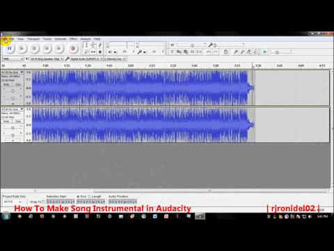 How To Make a Song Instrumental in Audacity