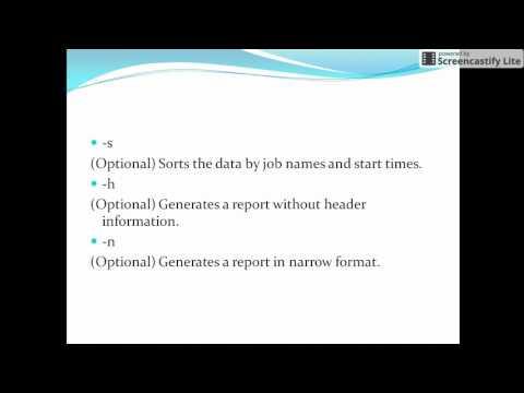 Forecast command in Autosys : Tutorials