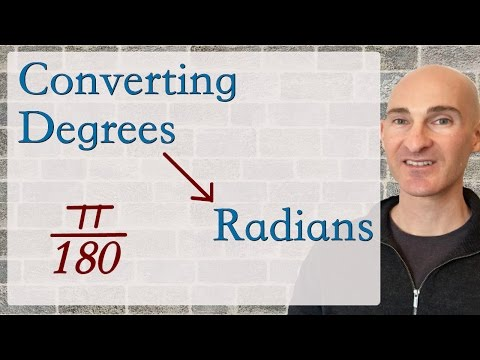 Degrees to Radians How to Convert
