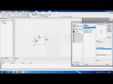 Multisim Blue Bode Plot RC circuit - First Order