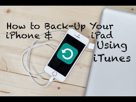 How to Back Up Your iPhone and iPad Using Your Computer - iTunes