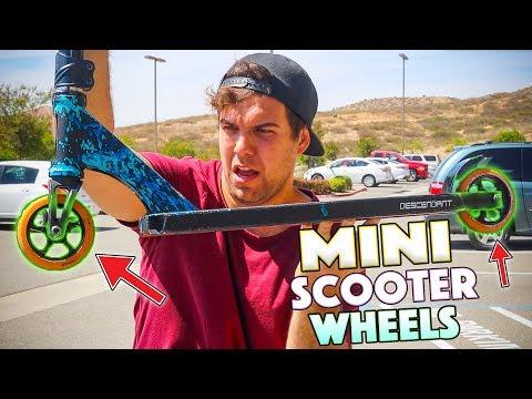 MINI SCOOTER WHEELS VS CUSTOM PRO SCOOTER!!!