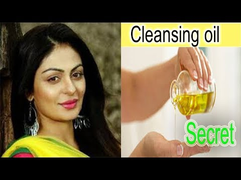 homemade cleansing oil method//cleaning face//all type skin and one cleansing oil