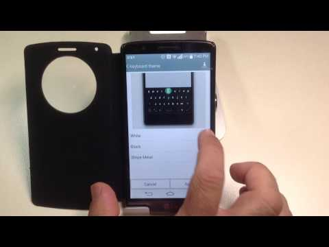 LG G3 Tips:  How to change the theme of the keyboard