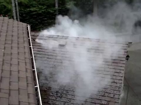 Roof Moss Removal with Steam Pressure