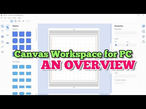 (ScanNCut) Canvas Workspace for PC: Overview