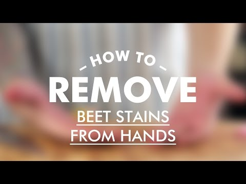 How To Remove Beet Stains From Hands || Gastrolab Basic Cooking Skills