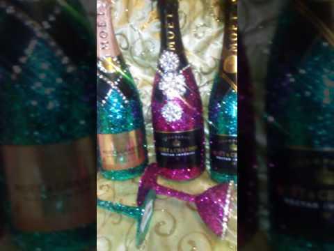 Bling Moet Champagne glitter Moet champagne bling champagne