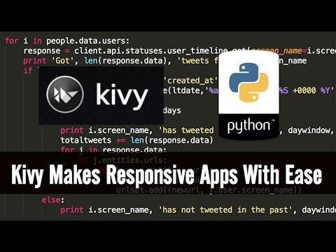 [KIVY] Kivy with Python tutorial - 1 for Mobile Application Development