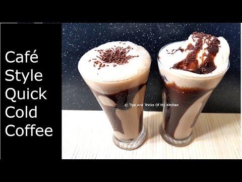 Cold Coffee Recipe | Easy Homemade Cold Coffee Recipe With Ice Cream In Hindi | कोल्ड  कॉफ़ी  रेसिपी