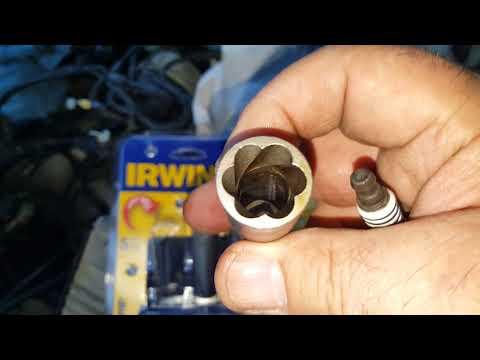 Stripped spark plug hex