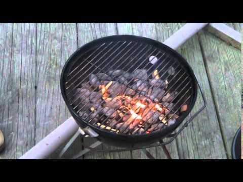 Blacken Salmon: Stage 2: Grilling