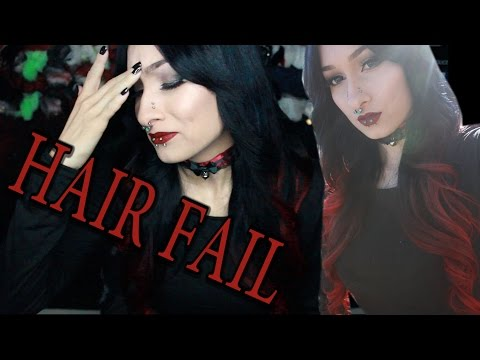 HAIR FAIL! Red and Black Ombre Hair