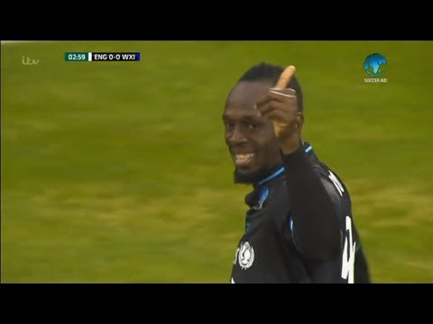 Usain Bolt vs England XI Soccer Aid (Debut) 10/06/2018 Commentary By Zico7 HD