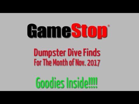 GameStop Dumpster Dive Nov. 2017 - Finds for the month
