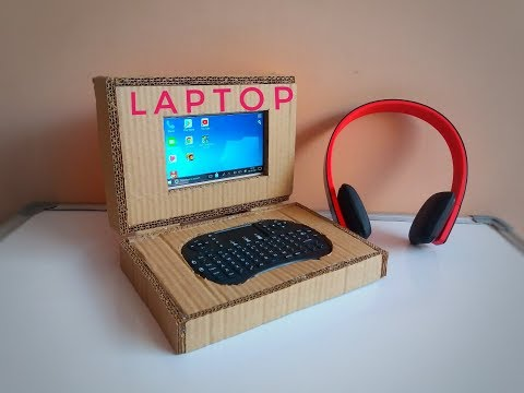 Homemade Laptop out of Cardboard