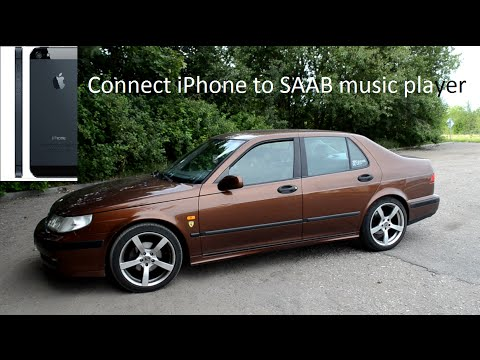 How to connect iPhone/Android to SAAB music player