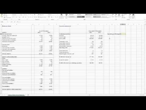 Calculating Operating Profit Margin in Excel