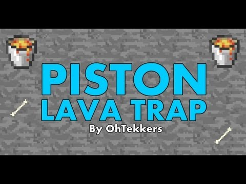 Minecraft: Piston Lava Trap - Redstone Tutorials 1.7.4