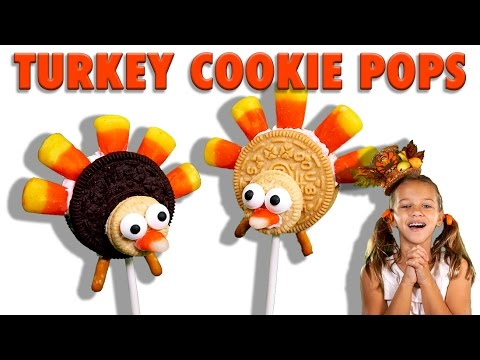 How to make Turkey Cookie Pops for Thanksgiving / Easy