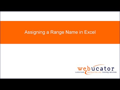Assigning a Range Name in Excel