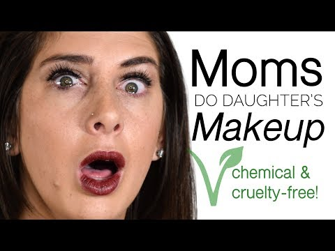 Mom's Do Their Daughters Makeup | Cruelty + Chemical Free!