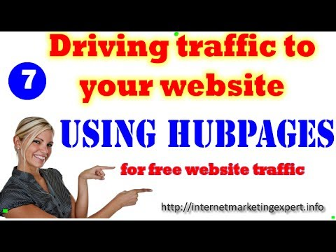 Driving Traffic to your Website - Traffic Generation Using Hubpages