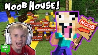Minecraft HOBBYNOOB House Build on HobbyKidsGaming